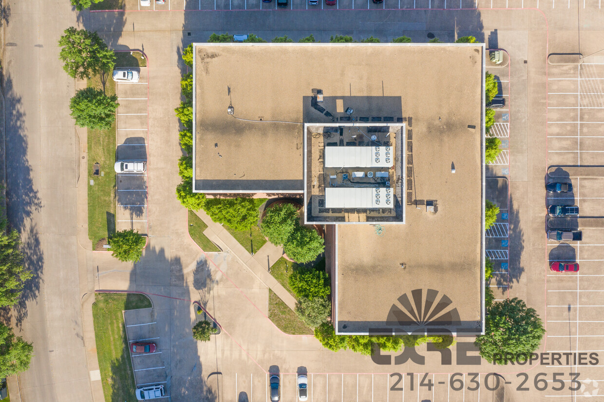 Centre at Brookhollow aerial view